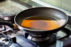 Dirty frying pan Royalty Free Stock Photography