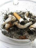 Dirty full ashtray Royalty Free Stock Photos