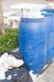 Dirty garbage tanks Stock Photos