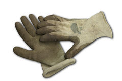 Dirty Garden Gloves royalty free stock image