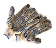 Dirty garden gloves Stock Images