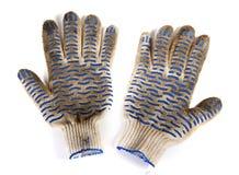 Dirty garden gloves Royalty Free Stock Photos