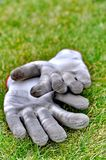 Dirty gardening gloves Royalty Free Stock Photography