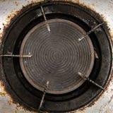 Dirty gas burner closeup Stock Photo