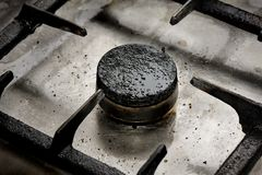 Dirty gas burner closeup Royalty Free Stock Photos