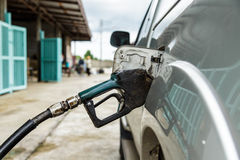 Dirty gas pump nozzle Royalty Free Stock Images