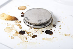 Dirty gas stove Stock Image