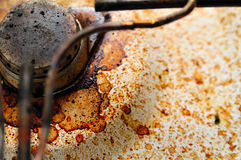 Dirty Gas Stove with Coffee St Stock Photography