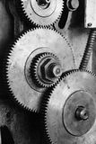 Dirty gear of lathe machine Stock Photography