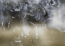 Dirty glass window. With smudges and prints Royalty Free Stock Photo