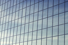 Dirty glass windows of an office building Stock Photo
