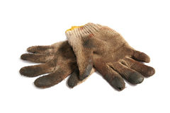 Dirty gloves Stock Photography