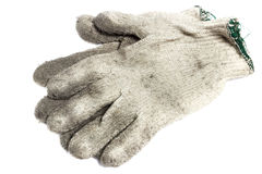 Dirty gloves Stock Image