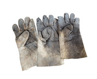 Dirty gloves Stock Photos