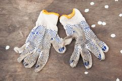 Dirty gloves Stock Photo
