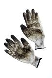 Dirty gloves Royalty Free Stock Photo