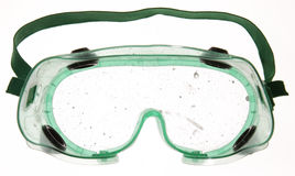 Dirty Goggles. Goggles with paint drips on the lens Stock Photography
