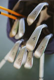 Dirty golf clubs Stock Images