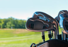 Dirty golf clubs Stock Image