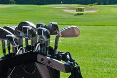 Dirty golf clubs Stock Photos