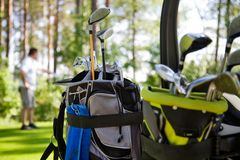 Dirty golfclubs Royalty Free Stock Images