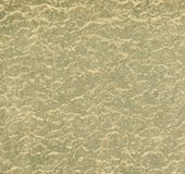 Dirty green car, texture. Background, uniform coating of sand Royalty Free Stock Photo