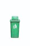 Dirty green litter bin Stock Photos