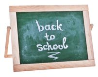 Dirty green schoolboard in wooden frame Royalty Free Stock Photo