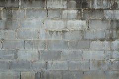 Dirty Grey concrete block wall Royalty Free Stock Photo