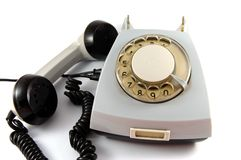Dirty Grey retro Rotary Phone Royalty Free Stock Image
