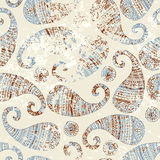 Dirty grunge paisley. Royalty Free Stock Photos