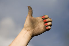 Dirty Hand Stock Photography