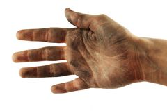 Dirty hand Stock Photo