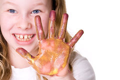 Dirty hand Royalty Free Stock Photo