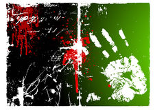 Dirty hand background vector. White hand in the screen.This pictures made in artistic itention Royalty Free Stock Photography