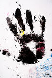 Dirty Hand print Royalty Free Stock Images