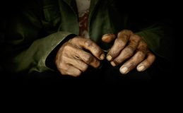 Dirty hands Stock Images
