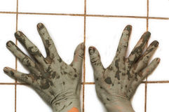 Really dirty hands royalty free stock photo