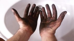 Dirty hands Royalty Free Stock Photos