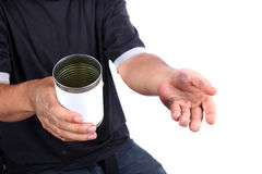 Dirty hands begging for money Royalty Free Stock Photos