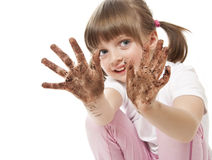 Dirty hands - hygiene concept stock photography
