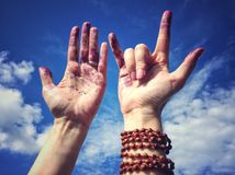 Dirty hands Stock Image