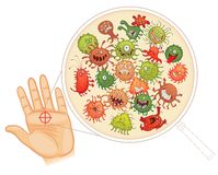 Dirty hands. Wash your hands before you eat! Stock Photo