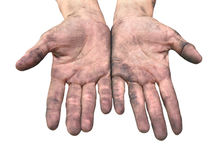 Dirty hands. Royalty Free Stock Images