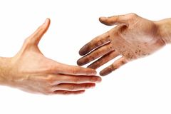 Dirty handshake Stock Photos