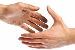 Dirty handshake Royalty Free Stock Images