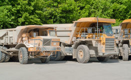 Dirty haul trucks Stock Image