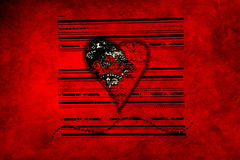 Dirty heart Royalty Free Stock Photo
