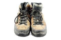 Dirty hiking boots Royalty Free Stock Images