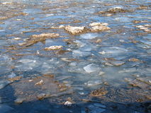Dirty ice. In Baltic sea, Stockholm royalty free stock photography